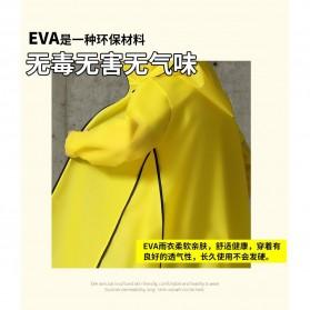 SAFEBET Jas Hujan Karet Minimalis Poncho Rubber Raincoat XL - YX-029 - Black - 2