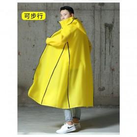 SAFEBET Jas Hujan Karet Minimalis Poncho Rubber Raincoat XL - YX-029 - Black - 3