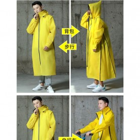 SAFEBET Jas Hujan Karet Minimalis Poncho Rubber Raincoat XL - YX-029 - Black - 4