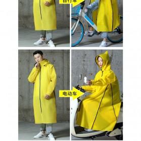 SAFEBET Jas Hujan Karet Minimalis Poncho Rubber Raincoat XL - YX-029 - Black - 5