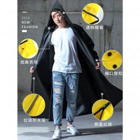 SAFEBET Jas Hujan Karet Minimalis Poncho Rubber Raincoat XL - YX-029 - Black - 6