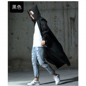 SAFEBET Jas Hujan Karet Minimalis Poncho Rubber Raincoat XL - YX-029 - Black - 7