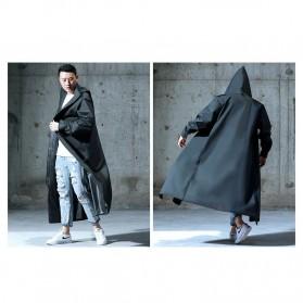 SAFEBET Jas Hujan Karet Minimalis Poncho Rubber Raincoat XL - YX-029 - Black - 8