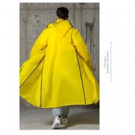 SAFEBET Jas Hujan Karet Minimalis Poncho Rubber Raincoat XL - YX-029 - Black - 9