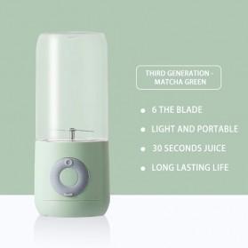 HAOYUNMA Blender Mixer Buah Portable Mini Juicer Cup USB Rechargeable 500ML - XHJ-118 - Green - 1