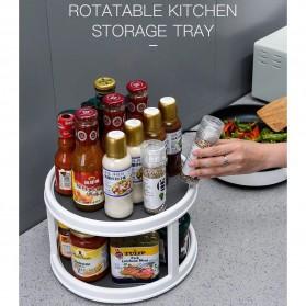 KITSTORM Rak Botol Tempat Bumbu Dapur Kitchen Storage Model Putar - CF430 - White