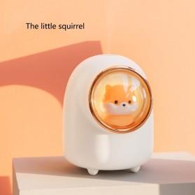 OLOEY Mini Air Humidifier Aromatherapy Oil Diffuser USB Cute Squirrel 1200mAh - M08 - White