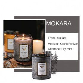 LAVEFIRE Lilin Aromatherapy Fragrant Scented Candle Soy Wax Jar Smokeless 40 Hours - FD-200ML - Gray