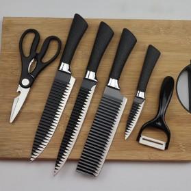 FORGING FAMILY Set Pisau Dapur 6 in 1 Gunting Peeler Pengupas Buah - ER-0279 - Black - 1