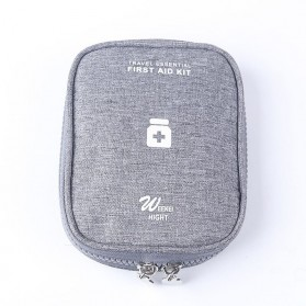 HAISUNNY Tas Travel Obat P3K Medical First Aid Kit - D1018 - Gray