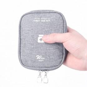 HAISUNNY Tas Travel Obat P3K Medical First Aid Kit - D1018 - Gray - 3