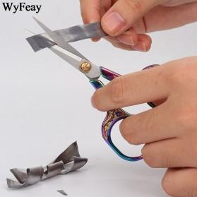 WyFeay Gunting Stainless Steel Vintage Scissors Design - 5035 - Silver - 6