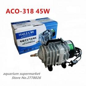 ACO Pompa Aerator Kompresor Udara Aquarium 45W - ACO-318 - Silver Black