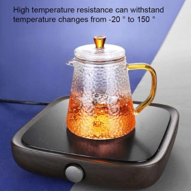 BORREY Teko Pitcher Teh Chinese Teapot Maker Borosilicate Glass 450ml - BR-035 - Transparent