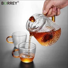 BORREY Teko Pitcher Teh Chinese Teapot Maker Borosilicate Glass 450ml - BR-035 - Transparent - 2