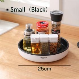 Ecoco Rak Botol Tempat Bumbu Dapur Kitchen Storage Model Putar Size Small - E2021 - Black