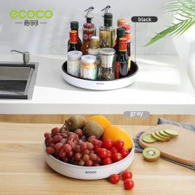 Ecoco Rak Botol Tempat Bumbu Dapur Kitchen Storage Model Putar Size Small - E2021 - Black - 2