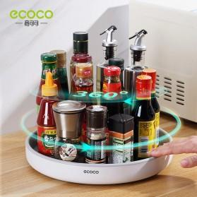 Ecoco Rak Botol Tempat Bumbu Dapur Kitchen Storage Model Putar Size Small - E2021 - Black - 3