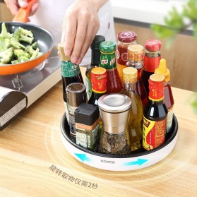 Ecoco Rak Botol Tempat Bumbu Dapur Kitchen Storage Model Putar Size Small - E2021 - Black - 5
