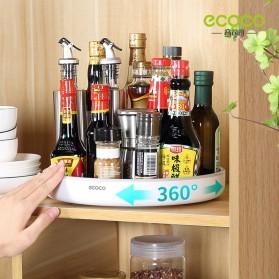 Ecoco Rak Botol Tempat Bumbu Dapur Kitchen Storage Model Putar Size Small - E2021 - Black - 6