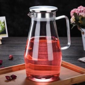 One Two Cups Teko Pitcher Teh Chinese Teapot Maker Borosilicate Glass 1.6L - SL330 - Transparent