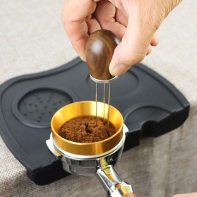 FENINCAFE Tamper Jarum Kopi Espresso Needle Distributor Coffee Tamper Stainless Steel - CY-B222 - Brown - 3