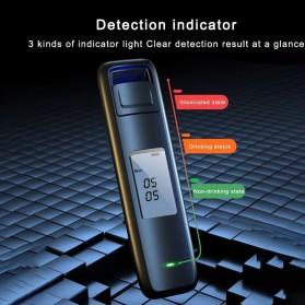 SUSISUN Digital Alcohol Tester Breathalyzer Portable Uji Kadar Alcohol Tubuh - AD6 - Black - 3