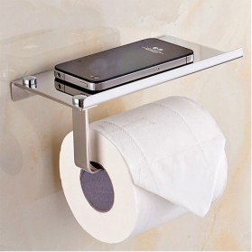 HOUSEEN Gantungan Tempat Tisu Toilet Stainless Steel - H226 - Silver