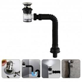 LOWESW Saringan Lubang Bak Cuci Piring Sink Strainer Filter Anti Bau with Pipe  - DS380 - Black - 2