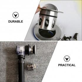 LOWESW Saringan Lubang Bak Cuci Piring Sink Strainer Filter Anti Bau with Pipe  - DS380 - Black - 4