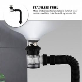 LOWESW Saringan Lubang Bak Cuci Piring Sink Strainer Filter Anti Bau with Pipe  - DS380 - Black - 5