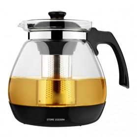HOMADISE Teko Pitcher Teh Chinese Teapot 1600ml dengan Saringan Infuser - K2 - Black