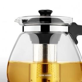 HOMADISE Teko Pitcher Teh Chinese Teapot 1600ml dengan Saringan Infuser - K2 - Black - 2