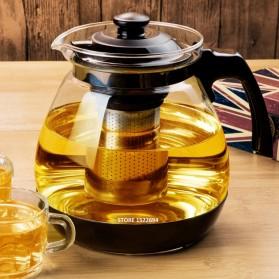 HOMADISE Teko Pitcher Teh Chinese Teapot 1600ml dengan Saringan Infuser - K2 - Black - 3