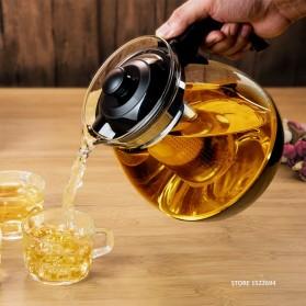 HOMADISE Teko Pitcher Teh Chinese Teapot 1600ml dengan Saringan Infuser - K2 - Black - 4