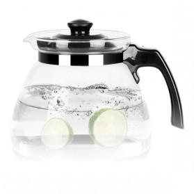 HOMADISE Teko Pitcher Teh Chinese Teapot 1600ml dengan Saringan Infuser - K2 - Black - 5