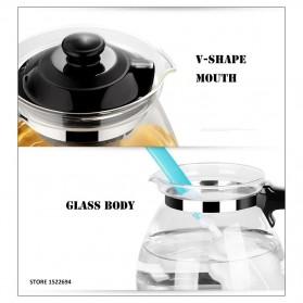 HOMADISE Teko Pitcher Teh Chinese Teapot 1600ml dengan Saringan Infuser - K2 - Black - 7