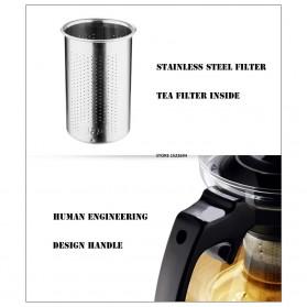 HOMADISE Teko Pitcher Teh Chinese Teapot 1600ml dengan Saringan Infuser - K2 - Black - 8