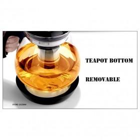HOMADISE Teko Pitcher Teh Chinese Teapot 1600ml dengan Saringan Infuser - K2 - Black - 9