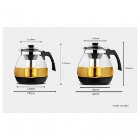 HOMADISE Teko Pitcher Teh Chinese Teapot 1600ml dengan Saringan Infuser - K2 - Black - 10