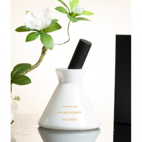 XINFULUO Parfum Ruangan Aroma Diffuser Reed Rattan Sticks Blue Windbell 200ml - XL913 - White