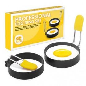 TEENRA Cetakan Telur Omelet Egg Pancake Ring 2 PCS - T2819 - Yellow