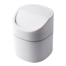 Dawndesslo Tempat Sampah Mini Portable Flip Type - D2663 - White