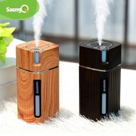 SaengQ Air Humidifier Pelembab Udara Aroma Oil Diffuser LED Light - L1 - Brown