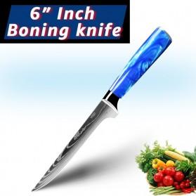 MYVIT Pisau Dapur Kitchen Damascus Pattern Boning Knife 6 Inch - LFG56 - Blue