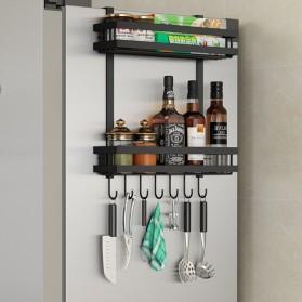 BearPaw Rak Organizer Dapur Kitchen Cabinet Hanging Storage Rack 2 Layer - G59 - Black