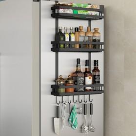 BearPaw Rak Organizer Dapur Kitchen Cabinet Hanging Storage Rack 3 Layer - G59 - Black