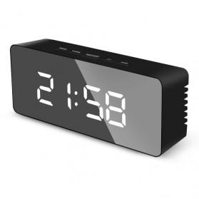 NieNie Jam Weker Mirror Alarm Digital + Temperature - TS-S69-HW - Black