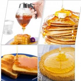 HILIFE Honey Dispenser Jar Teko Botol Madu Sirup Serbaguna - 17429 - Transparent - 2