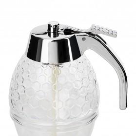 HILIFE Honey Dispenser Jar Teko Botol Madu Sirup Serbaguna - 17429 - Transparent - 6